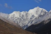 Sharp ridges of mount Gangchenpo, Langtang National Park, Nepal.