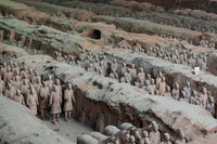 Warriors of famous Terracotta Army in Xian China