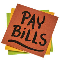 pay bills - isolated reminder note