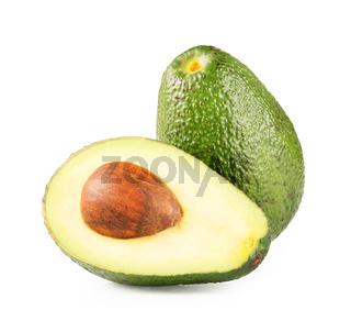 Ripe half avocado