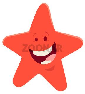 cartoon starfish animal character