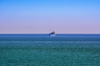 Container ship in the sea