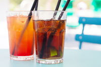Cuba Libre and Tequila Sunrise cocktails