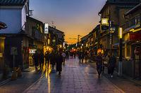 Gion District Urban Scene, Kyoto, Japan