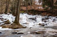 Bilder vom Selkewasserfall im Winter Harz