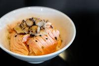Salmon Donburi Foie Gras