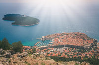 Dubrovnik Old Town seen from above