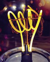 Detail einer LED Lampe