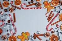 Christmas food frame