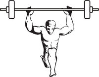 Man Lifting Weights Vector