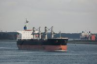 Industrial ship leaving Rotterdam
