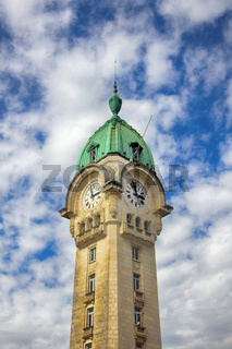 The clock tower of the station of Limoges