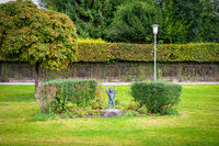 figure in a park Tutzing Bavaria Germany