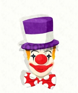 Watercolor clown