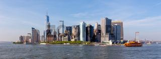 Panoramic view of Lower Manhattan, New York City, USA