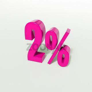 2 Percent Pink Sign