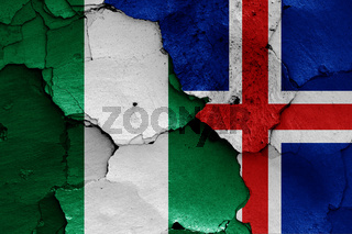 flags of Nigeria and Iceland