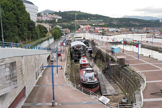 view of the maritime museum in bilbao, spain