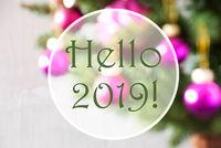 Blurry Balls, Rose Quartz, Text Hello 2019