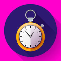 stopwatch icon vector symbol race. Illustration of the time.