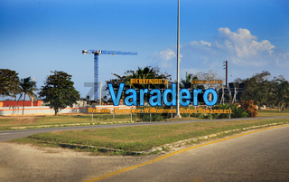 Welcome Sign on Varadero