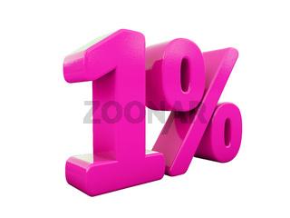 1 Percent Pink Sign