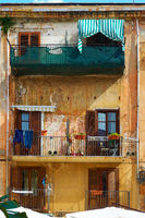 Old building with balconies  in Palermo