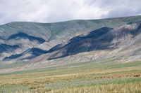 Mongolian mountain natural landscape near lake Tolbo-Nuur in north Mongolia
