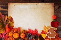 Old Paper With Copy Space, Colorful Autumn Decoration