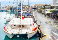 Catamaran, yachts, marina, Limassol, Cyprus