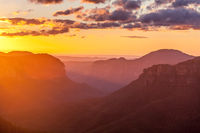 Scenic sunrise with Mt hay in view, Blue Mountains