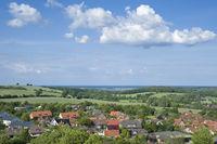 Blick vom Bismarckturm in Lütjenburg zur Ostsee