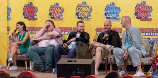 FRANKFURT, GERMANY - MAY 6th 2018: Ghadah Al-Akel, Manuel Straube, Tobias Müller and Ingo Albrecht at German Comic Con Frankfurt