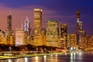 Chicago Skylines Downtown USA