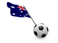 Soccer ball with the flag of Australia