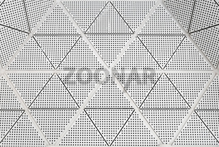 Modern metal ceiling pattern