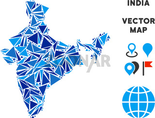 Blue Triangle India Map