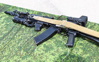 Kalashnikov ak-47 rifle with under-barrel grenade launcher