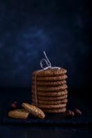 Oatmeal cookies with hazelnuts