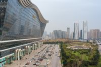 Aerial view of Chengdu new century global center building