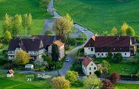 kleines Dorf in sachsen