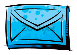 Traditional letter in an envelope