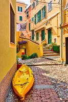 Street near the sea in Genoa
