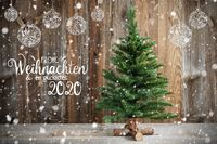 Christmas Tree, Calligraphy Frohe Weihnachten Means Merry Christmas, Decoration