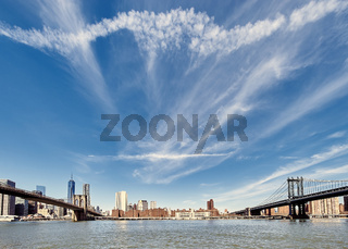 Manhattan skyline view from Brooklyn