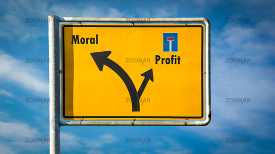 Street Sign to Moral versus Profit