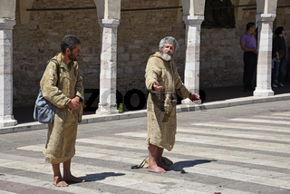 two begging friars