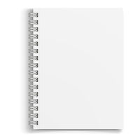 Mockup white notebook
