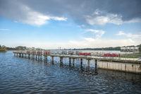 Steg am Binnensee in Heiligenhafen