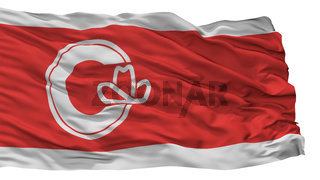 Calgary City Flag, Canada, Alberta Province, Isolated On White Background